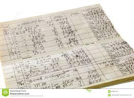 Check Ledger Home Business Check Register Ledger Isolated Stock Illustration