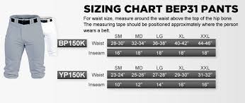 Baseball Pants Size Chart Youth Launch Knicker Baseball Pant