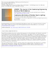American National Standard Practice For Office Lighting Pdf Pdf Illuminance Uniformity Of Outdoor Sports Lighting