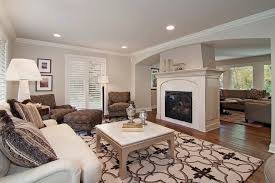 Center Room Fireplace Living Traditional With Recessed Tv Wooden
