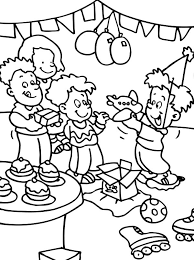 Birthday Party Coloring Pictures Happy Birthday Wishes