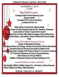 christmas open house flyer christmas open house nov 17 union daily times
