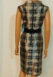 Antonio Melani Silver Black New Sleeveless Sheath Mid Length Cocktail Dress Size 8 M 50 Off Retail