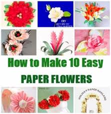 create paper flowers using these tutorials