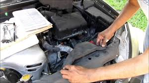 Toyota Camry Starter replacement, 2003 XLE 4 cylinder Engine - YouTube