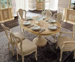 Camel Group Aida Aida Ivory And Gold Round Extension Dining Table