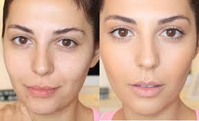 makeup no makeup photo 2