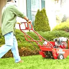 aerator machine al home depot lawn garden equipment truck tool the thatching dethatcher mower dethatching