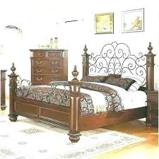 King Size Rustic Metal Bed Frame Ideas Iron Bedroom Furniture Wood ...