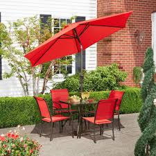 Hd Designs Outdoors Hd Designs Outdoors Orchards 5 Piece Dining Set Scarlet