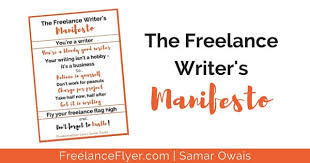 the lance writer s manifesto we all need lance flyer  lance writer manifesto