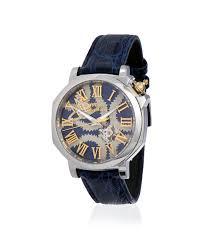 men s designer jewellery vivienne westwood blue squiggle swiss watch