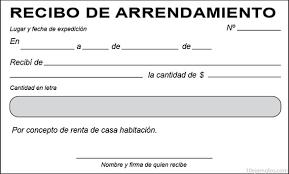 Formato De Recibos Ejemplos De Recibo De Arrendamiento