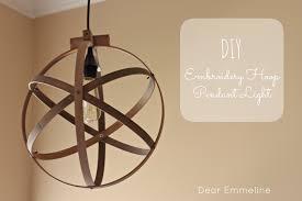 Diy Light Fixtures Diy Easy Embroidery Hoop Pendant