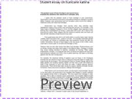 student essay on hurricane katrina custom paper writing service student essay on hurricane katrina hurricane katrina essay and over 87 000 other research