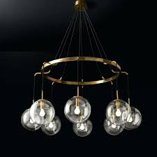 glass ball chandelier post modern minimalist restaurant hanging lamps blown bubble glass ball chandelier