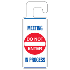 Door Knob Hangers Meeting In Progress Seton