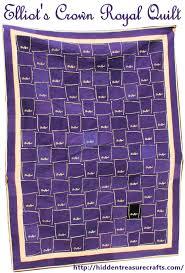 Elliot's Crown Royal Quilt | Hidden Treasure Crafts and Quilting & Elliot's Crown Royal Quilt Adamdwight.com