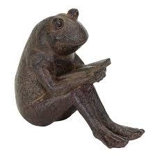 garden frog statue. Amazon.com: Benzara Quite Reading Garden Frog Statue, Polystone: Home \u0026 Kitchen Statue