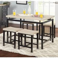 black kitchen dining sets: simple living delano two tone  piece dining set