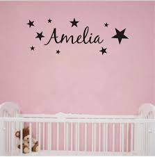personalized any name stars vinyl wall sticker art  on stars vinyl wall art with personalized any name stars vinyl wall sticker art decal wall