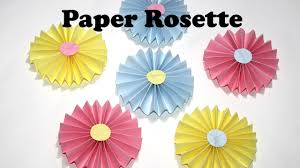 diy paper crafts how to make easy paper rosettes diy paper decorations