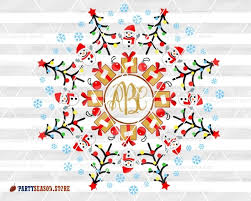 Svg salon creates unique monogram cutting files for use with your cricut and silhouette machines. Christmas Monogram Svg