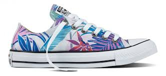 converse all star low tops. converse chuck taylor all star low top tropical print fresh cyan/magenta glow/white tops n