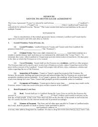 missouri month to month lease agreement