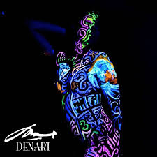 denart nyc has created an intimate double date night unlike any other in a pitch dark studio lit only by black lights you and your partner can paint each
