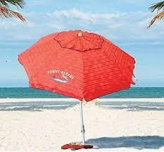 beach umbrella. Tommy Bahama 2016 Sand Anchor 7-Feet Beach Umbrella With Tilt And Telescoping - Red