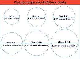 Bangle Size Chart United States Selinas Jewelry