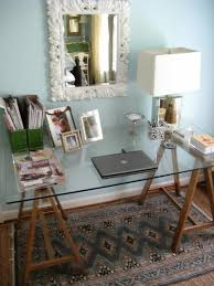 glass office furniture. Office Furniture Glass Desk With Wooden Legs Set Up Home A