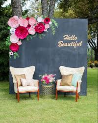 diy templates and pre cut kits paper flower backdrop by paperflora pink paper flowers for weddings events or home decor