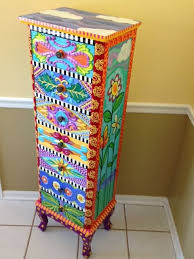 whimsy furniture. Funky Painted Furniture Ideas Hand Dresser Carla Bank Handpaintedfurniture Decor For Kids Whimsy O