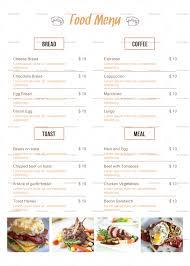breakfast menu template simple breakfast menu design template in psd word publisher