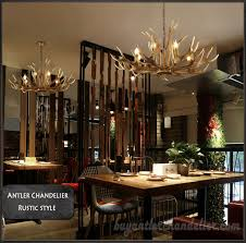6 cast elk antler chandelier six candle style pendant lights rustic lighting home decorating 34 6