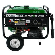 electric generators. DuroMax XP4850EH Hybrid Portable Dual Fuel Propane / Gas Camping RV Generator Electric Generators