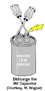 how to test the high voltage capacitor used in microwave ovens how to discharge the high voltage capacitor