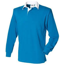 rugby shirt long sleeve kingfisher