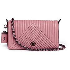 Coach  Dinky  rivet quilted leather crossbody bag (41.200 RUB) ❤ liked on