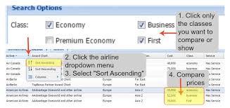 Flyermiler Classes Comparison The Economical Excursionists