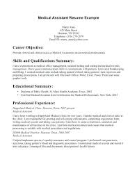 Medical Assistant Resume Objectives Professional Medical Assistant Resume Lidazayiflama 9