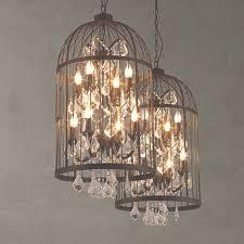 american birdcage chandelier crystal light loft metal vintage intended for birdcage chandelier view 4
