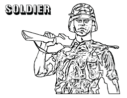 Army Guy Coloring Pages Ecancerargentinaorg