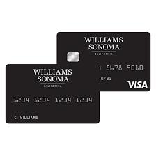 williams sonoma visa credit card and