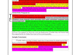 essay writing teel colour coded