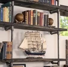 how to make a pipe bookshelf