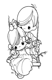 Precious Moments Valentine Coloring Pages