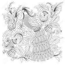 Tropische Wilde Vogel Kleurboek Voor Volwassen En Oudere Kinderen